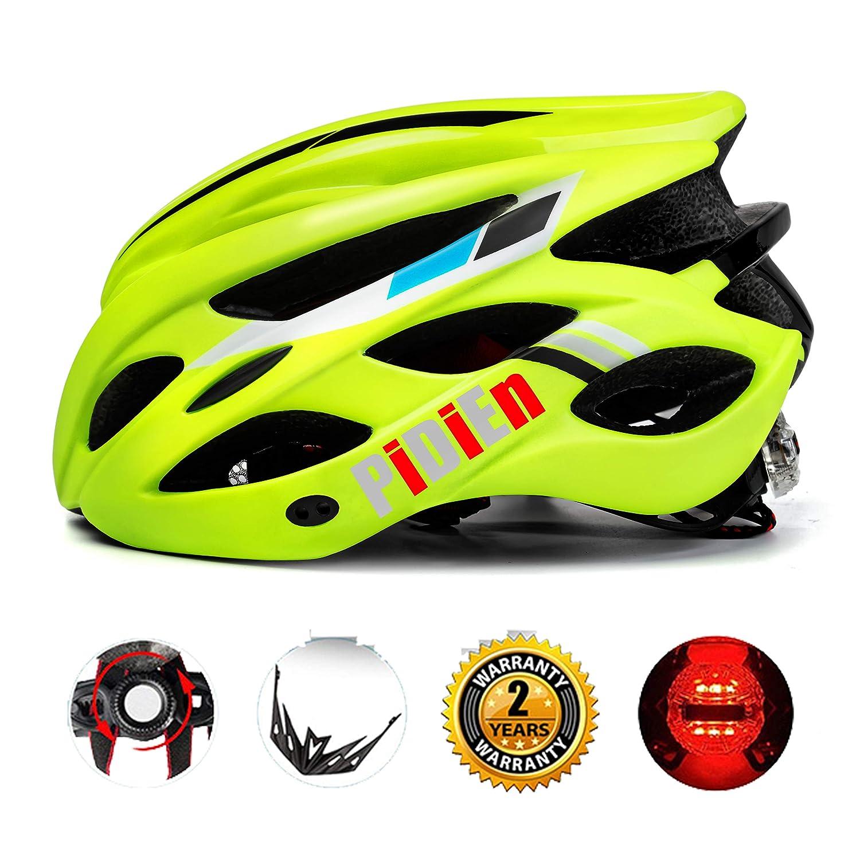 Pidien自転車用ヘルメット調整可能なバイザー付き超軽量成人用サイクリングヘルメットCPSC認定専門男性用ブラック/グリーン自転車用ヘルメット女性安全保護   B07CXDWSWZ