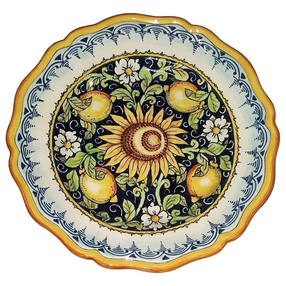 CERAMICHE D'ARTE PARRINI - Italian Ceramic Art Pottery Serving Plate Dish Food Bowl Hand Painted Made in ITALY Tuscan