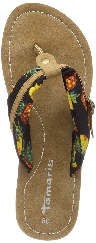 Tamaris Damen 27109 Pantoletten  36 EU|Schwarz (Blk Pineapple)
