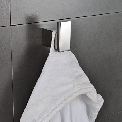 bath towel hook. Single Robe Hook Stainless Steel Bathroom Towel Kitchen Hanger Large Square  Heavy Duty Modern Bath Bath Towel Hook H