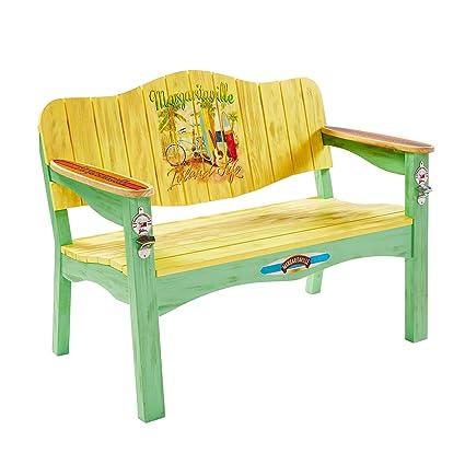 Margaritaville Outdoor U0026quot;Island Lifeu0026quot; Surfboard Bench