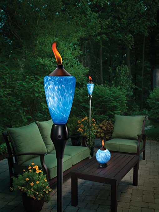 Amazon.com : TIKI 1111356 Lamplight Glowing LED And Flame Torch :  Decorative Lighting : Garden U0026 Outdoor
