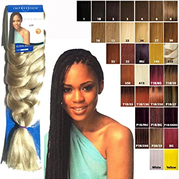 Impression Super Braid Hair Extensions Kunsthaar 86 Weight 175gm