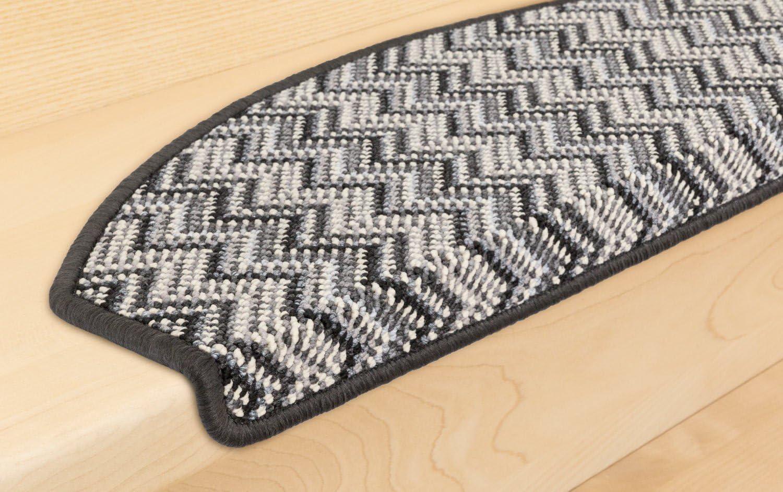 Kettelservice-Metzker Stufenmatten Treppenmatten Victoria Trittfl/äche 65x24cm Dunkelgrau 1 St/ück