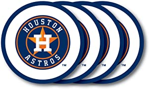 MLB Houston Astros Vinyl Coaster Set (Pack of 4)