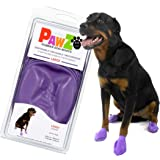 PawZ Dog Boots | Rubber Dog Booties | Waterproof Snow Boots for Dogs | Paw Protection for Dogs | 12 Dog Shoes per Pack (Color