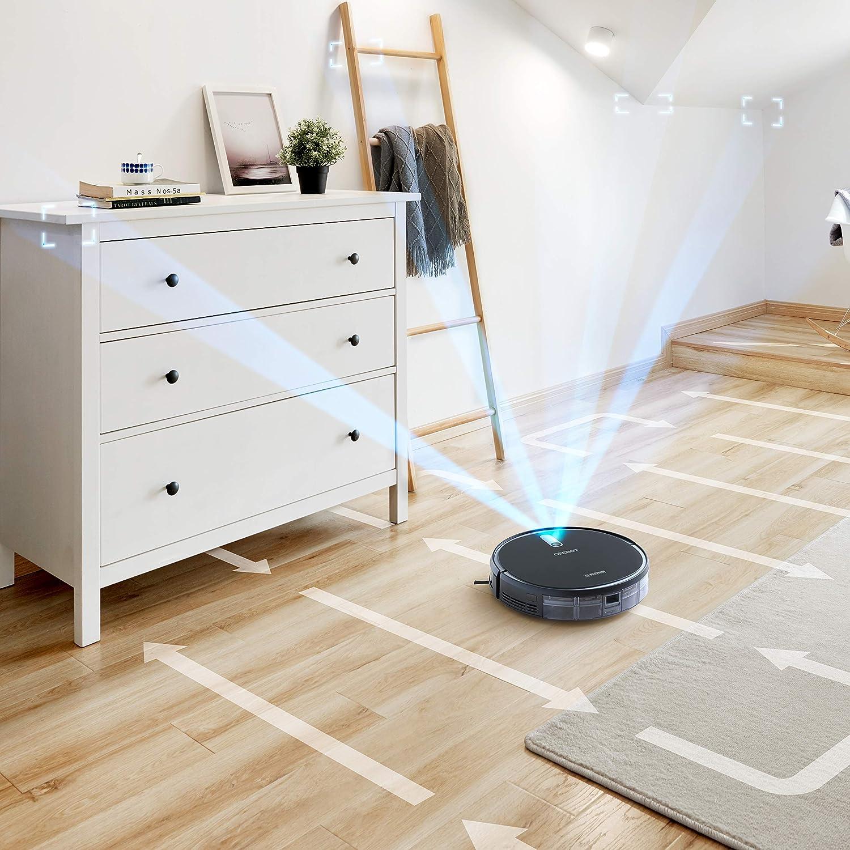 Control Mediante App Modo de succi/ón M/ÁX Mapeado Smart Navi 2.0 Robot Aspirador Inteligente OTA Update M/ódulo Intercambiable 2 en 1: Aspira y Friega ECOVACS DEEBOT 715