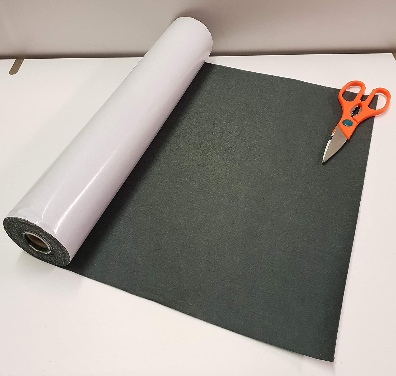 BAIZE One Metre x 450mm wide roll of BLACK STICKY BACK SELF ADHESIVE FELT