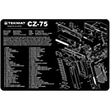 TekMat Tapis de nettoyage pour pistolet Motif Cz-75 Noir 27,9 x 43,1cm