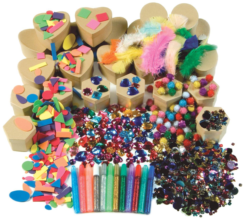 Paper Mache Kits, Glue, Glitter Pens, 24 Boxes, Sold as 1 Kit