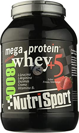 Nutrisport Mega Protein 5 Whey Fresa 1,8Kg. 1800 g: Amazon.es ...