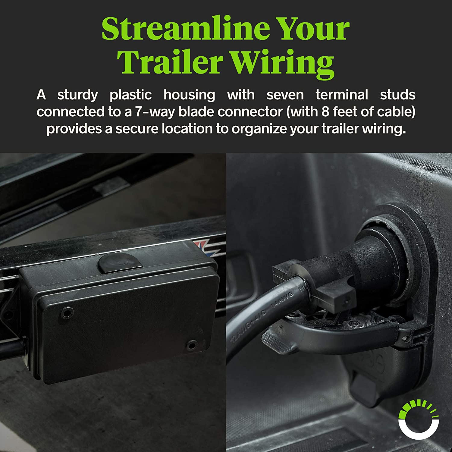 Online Led Store 7 Port Trailer Wiring Junction Box Steel Studs A Stickers Included Weatherproof Wire Cable Connection