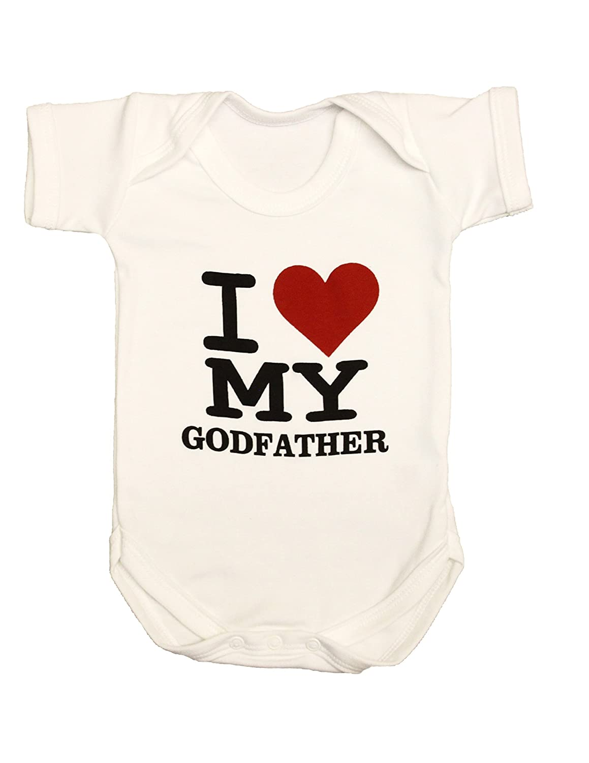 Zaza London Baby-Boys I Love My Godfather Suit Vest Newborn Gift Baby Grow