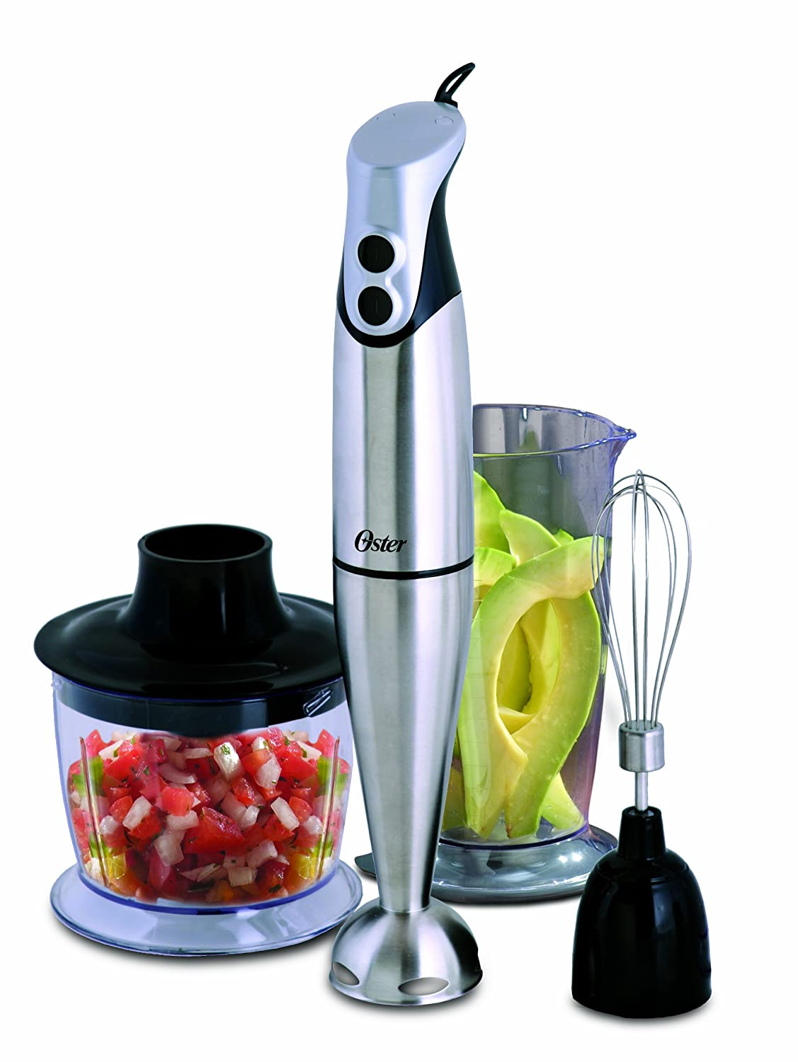 Oster Hand Blender with Accessories, Stainless Steel FPSTHBSSA2-033