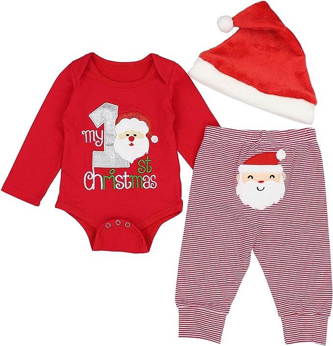 Amazon.com: Donwen - Body de Navidad para bebé, chica y niño ...