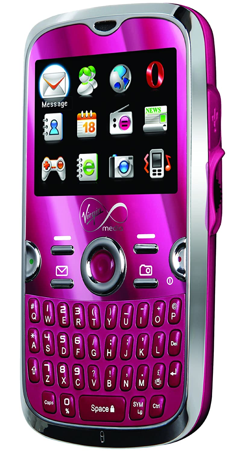 Virgin Mobile VM800 (Pink) Pay As You Go Mobile Phone with full QWERTY  keyboard bundle with £10 airtime and 300 free texts!!