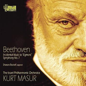 ベートーヴェン : 交響曲 第7番&劇音楽 「エグモント」 (Beethoven : Incidental Music to ''Egmont'' , Symphony No. 7/ Kurt Masur, The Israel Philharmonic Orchestra, Sharon Rostorf (sopran)) (2012 LIVE) [輸入盤]