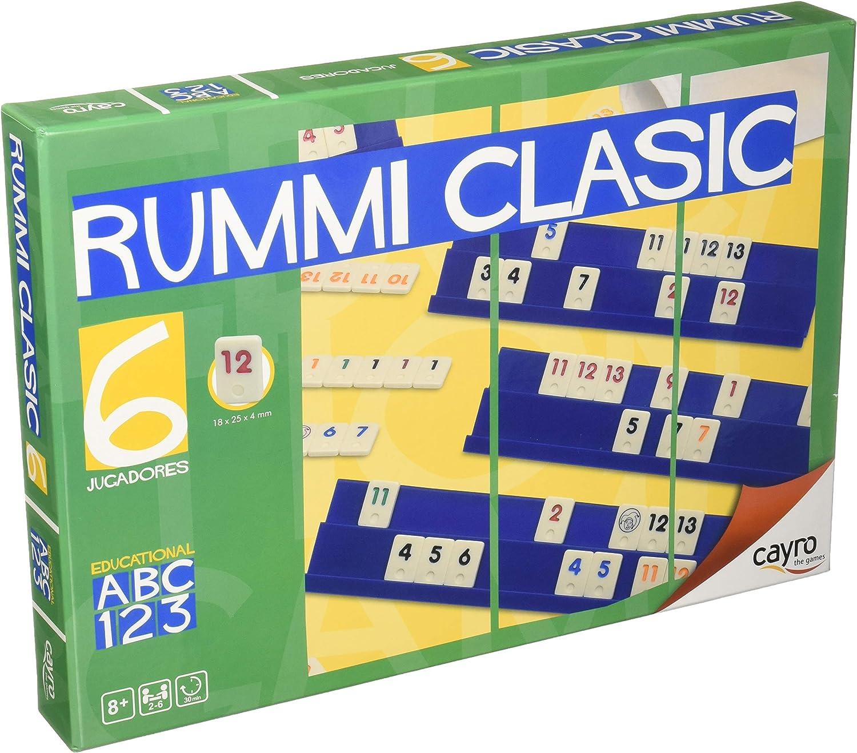 Cayro 712 - Rummi Classic 6 Jugadores (+8 Años): Amazon.es ...