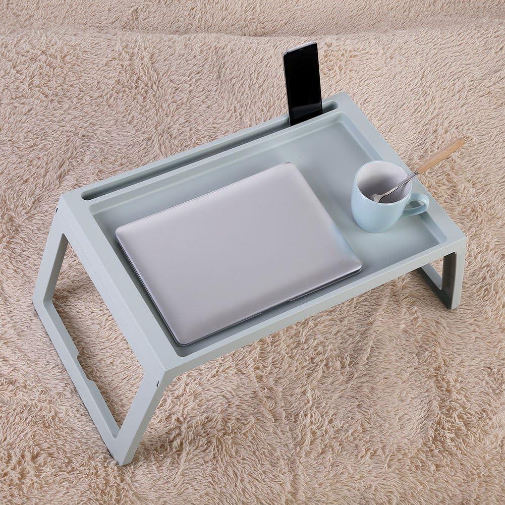 EBTOOLS Mesa de Cama para Ordenador port/átil Tablet de Cama para Desayuno PC Soporte port/átil Plegable pl/ástico Durable
