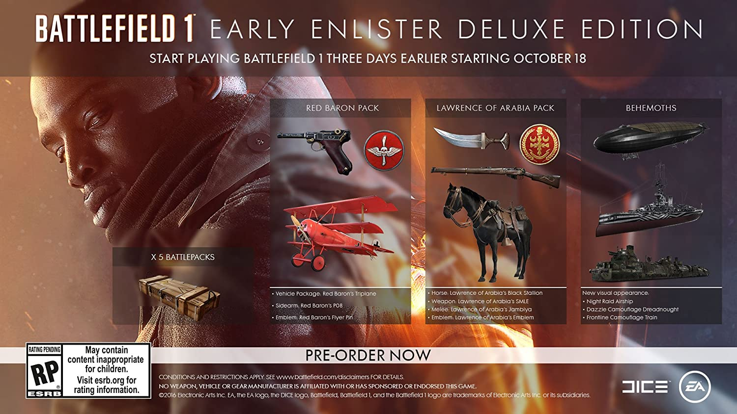 battlefield v deluxe edition upgrade content