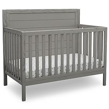 Delta Children Farmhouse 4 In 1 Convertible Crib Rustic Haze Grey