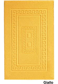 97df1a9130 Biancheria Store Tappeto Bagno Giallo 60X120 CM Misto Cotone Made in ...