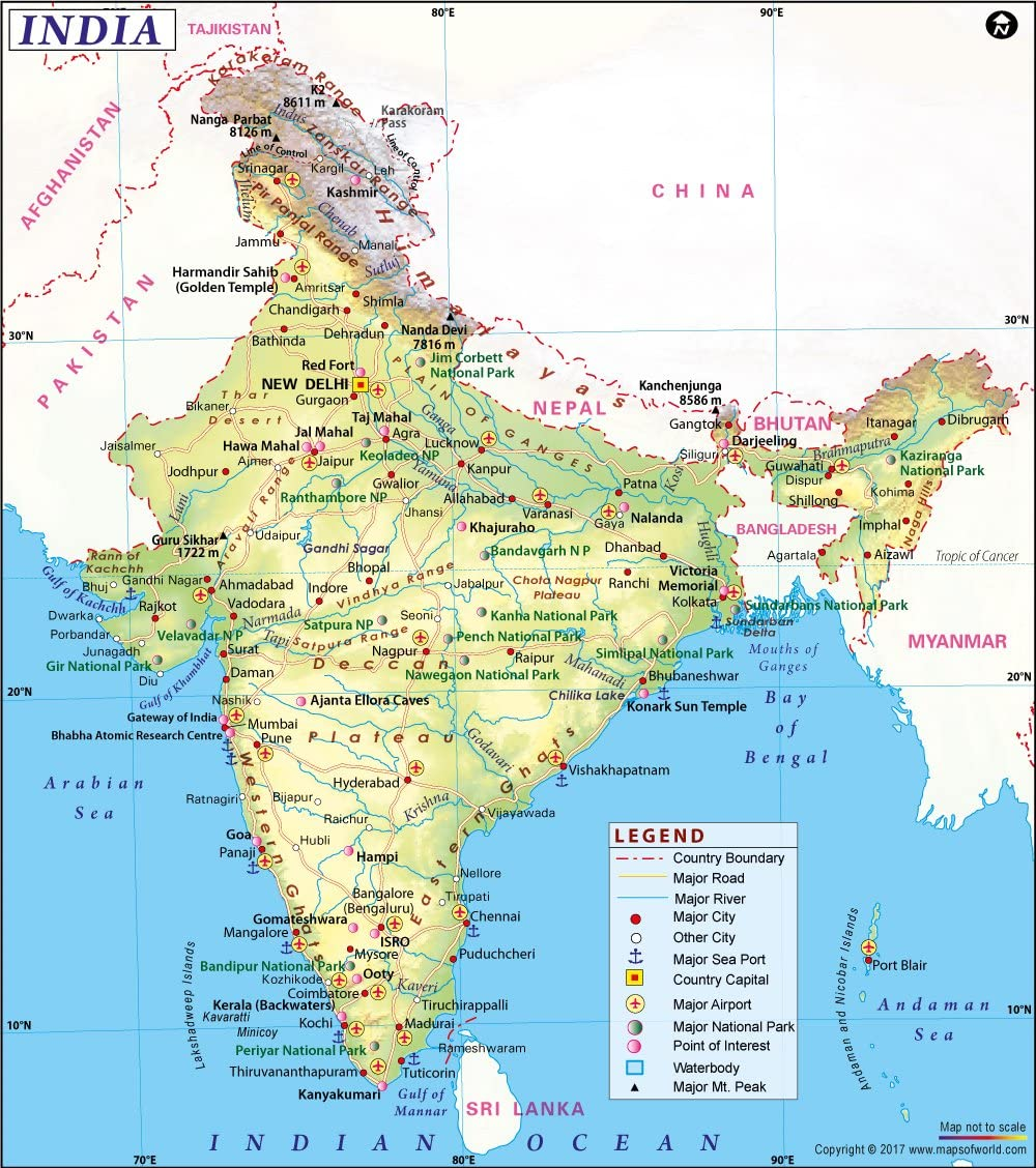 Cartina Muta Del Subcontinente Indiano.India Mappa 91 4 Cm W X 103 4 Cm H Amazon It Cancelleria E Prodotti Per Ufficio