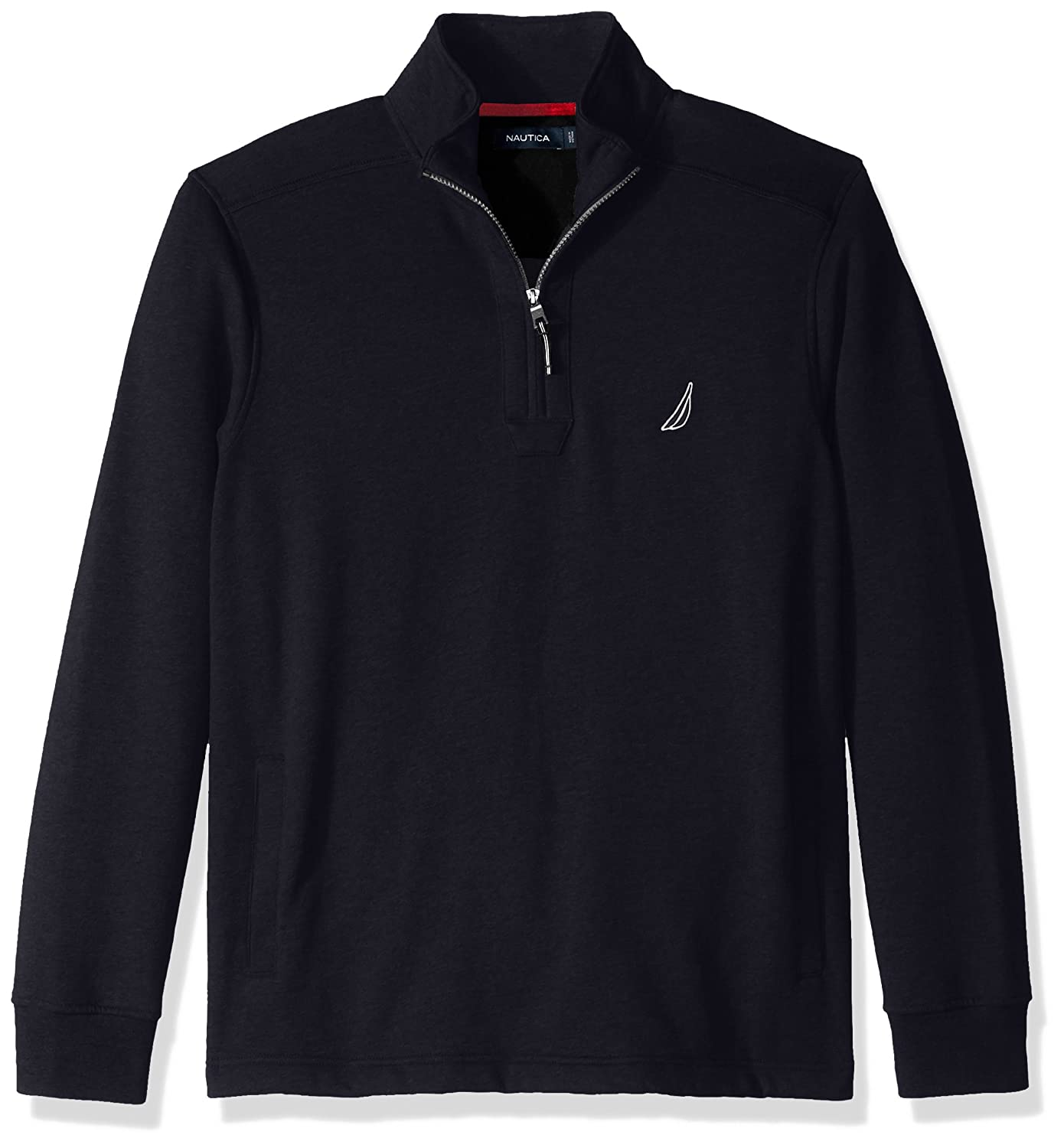 Nautica mens big-tall Big And Tall Long Sleeve Sueded Fleece Quarter Zip Knit Z73172