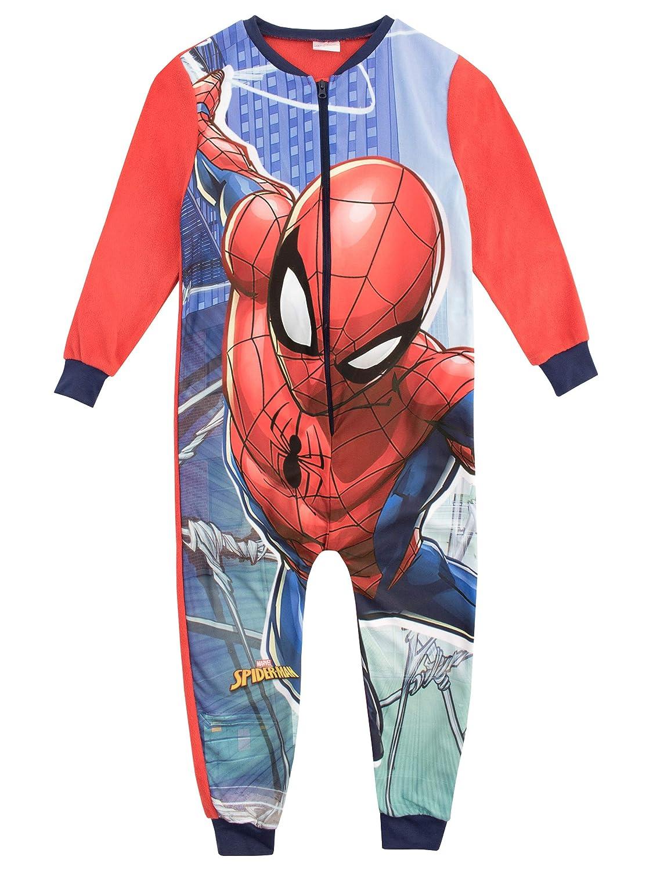 Marvel Jungen Spiderman Schlafoveralls