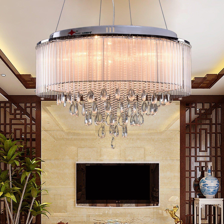 OOFAY LIGHTR G4 8 Lights Modern Crystal Chandelier Art For The Living Room And Bedroom