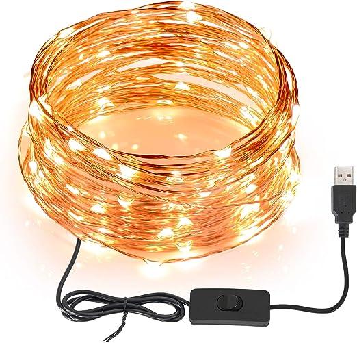 SUNNEST Guirnaldas luces exterior 12M 120 LED Conexión USB ...