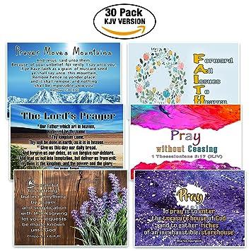 amazon com christian prayer postcards cards 30 pack kjv the