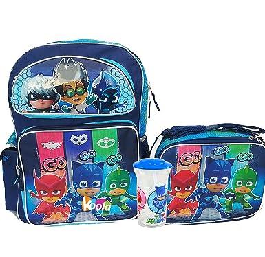 """PJ Masks Large School Backpack 16"""" Boys & Lunch Bag 3pc set Boy ..."""