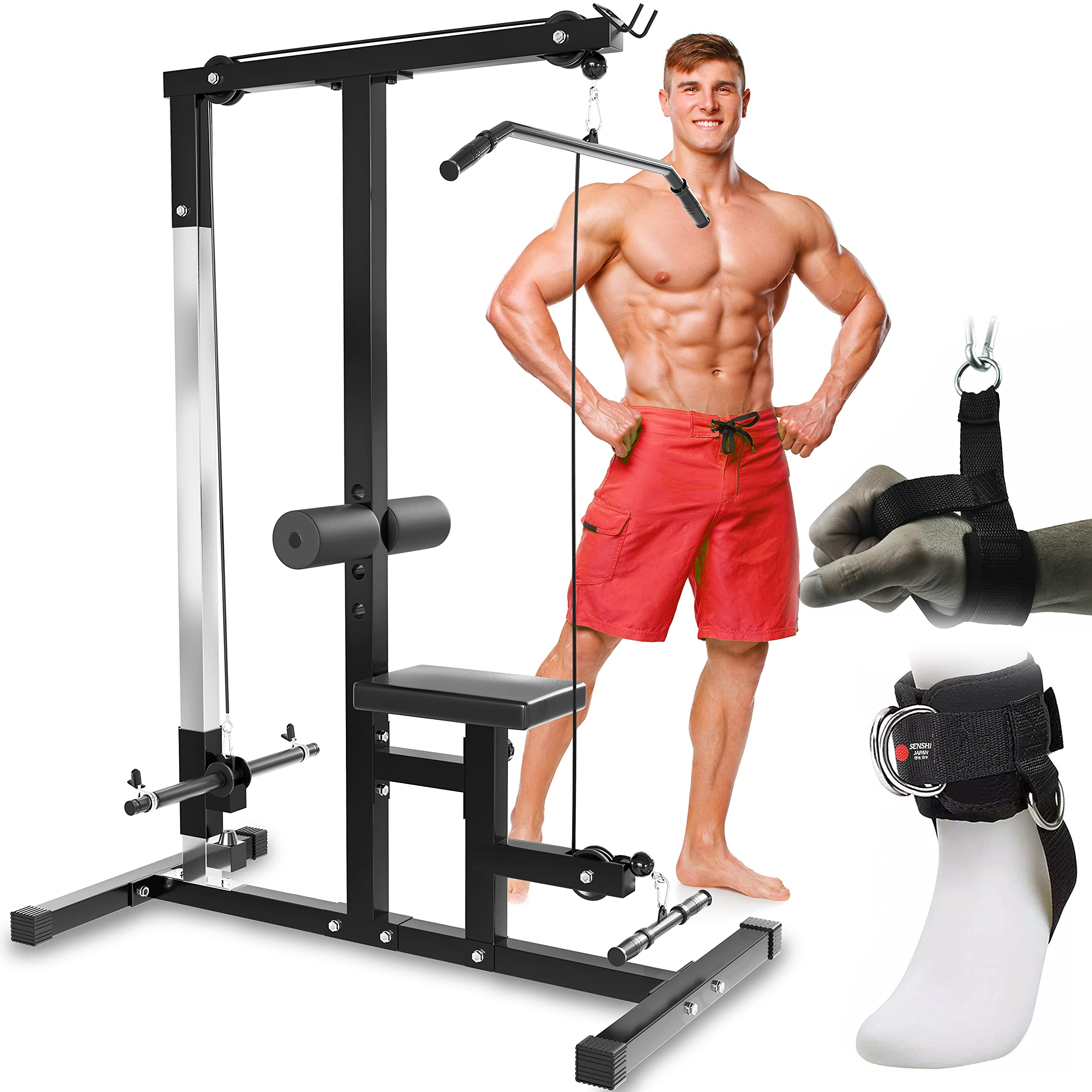 Senshi Japan Tricep Rope Pull Down Multi Gym Cable Attachment BodyBuilding
