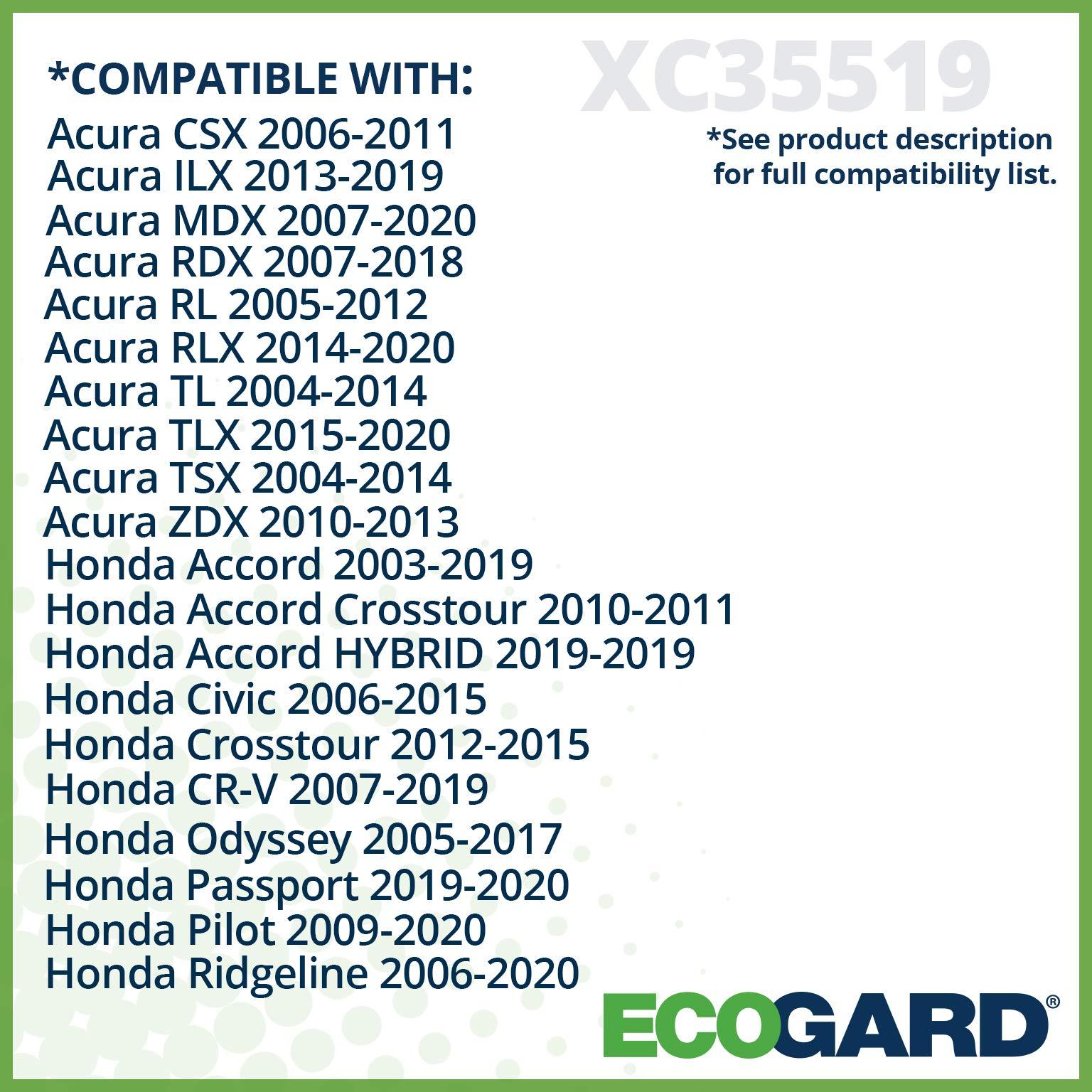 Ecogard XC35519 Premium Cabin Air Filter Fits Acura MDX