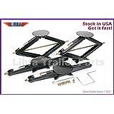 """Set of 4 5000 lb 30"""" RV Trailer Stabilizer Leveling Scissor Jacks w/handle and socket - 26021 …"""