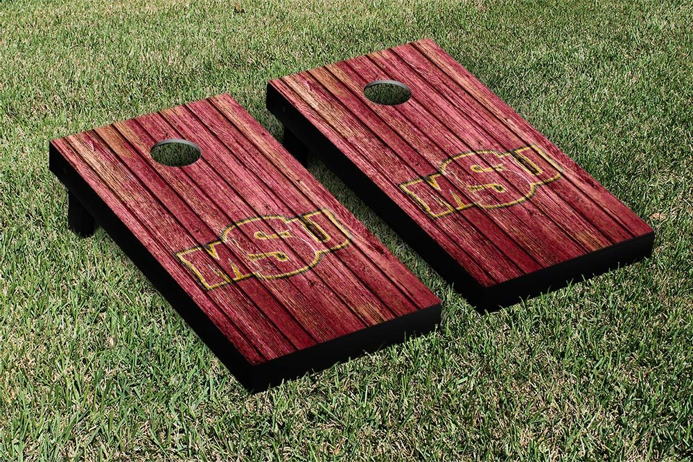Midwestern状態MSU Mustangs Cornhole Game Set Weatheredバージョン B011345RTU