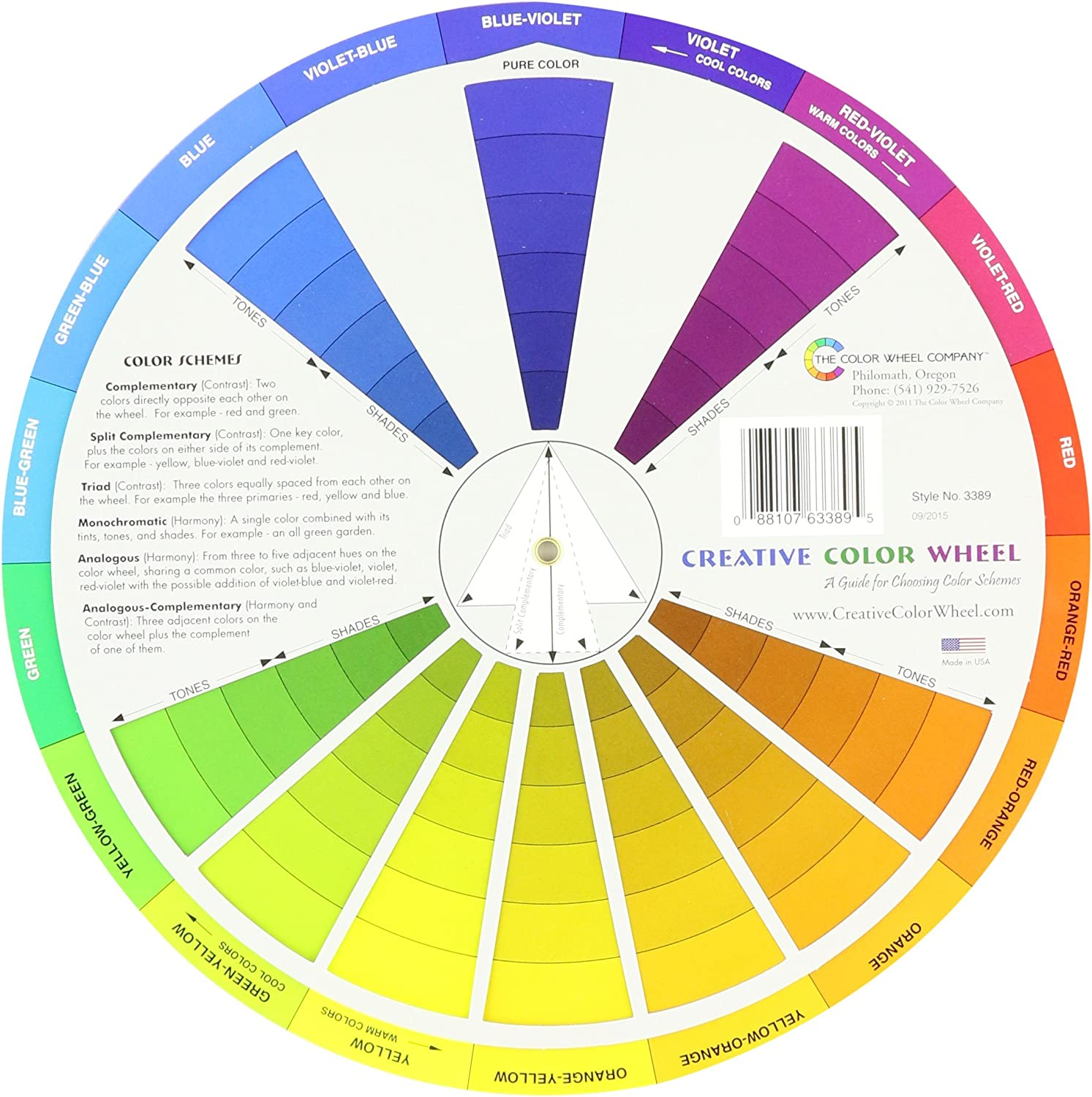 Cox 3389 Creative Color Wheel-9.25/""