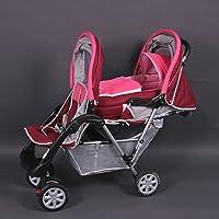 Passeggino fratelli o gemellare rosa Top Design - BambinoWorld