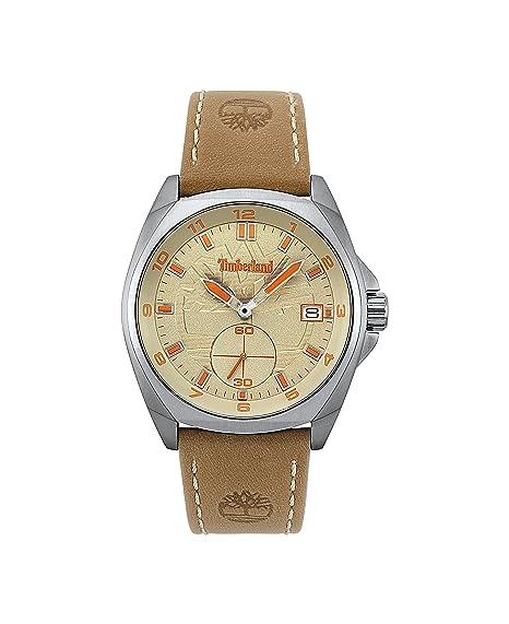 deaa5f32dd00 Timberland Reloj Análogo clásico para Hombre de Cuarzo con Correa en Cuero  TBL.15354JS 07  Amazon.es  Relojes