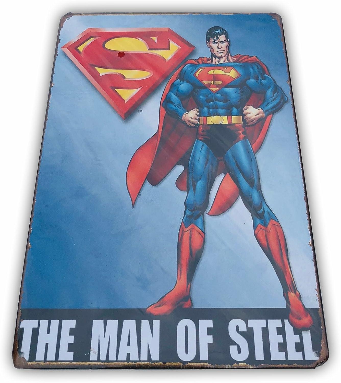Canvas Superman Vintage Movie Large Poster Art Print Black /& White Card