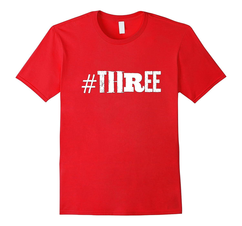 3rd Birthday Shirt Gift Kids Boys Girls Hashtag Three 3-TH