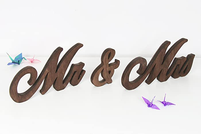 Mr and Mrs Signs - Mr and Mrs Wedding Table Decor - Mrs And Mr Signs ...