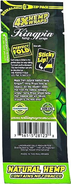 Natural Perfect No Tobacco 15x Packs KingPin Spaish Fly 60 Wraps Total