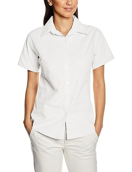 9217cba46 Premier Workwear Signature Oxford Ladies Short Sleeve Shirt: Amazon.co.uk:  Clothing