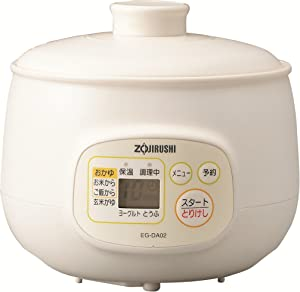 Zojirushi microcomputer porridge maker cup 5 cups of EG-DA02-WB White