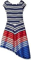 Tommy Hilfiger Big Girls' Multi Directional Stripe Dress