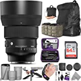 Sigma 85mm f/1.4 DG DN Art Lens for Sony E with Altura Photo Advanced Accessory and Travel Bundle