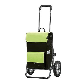 bremermann® Caddie de courses, chariot à main, poussette de marché, voiturette avec sac amovible, bleu