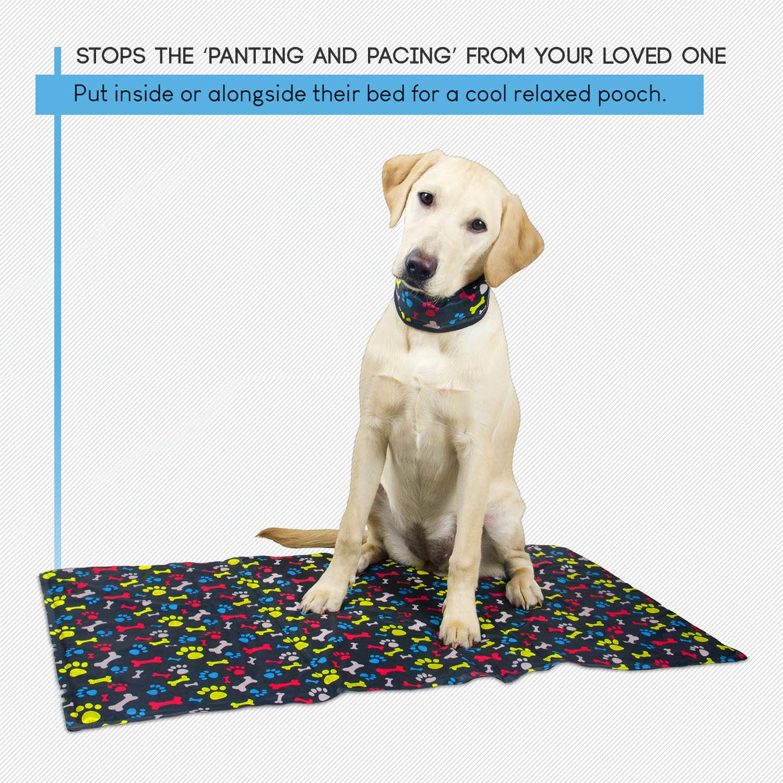 Alfombrilla de refrigeración de perro mascota cama para mantener su de: de grosor fría en caliente meteorológica. Con un LIBRE Chilly cuello.